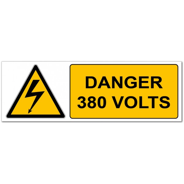 Danger électrique 380 volts