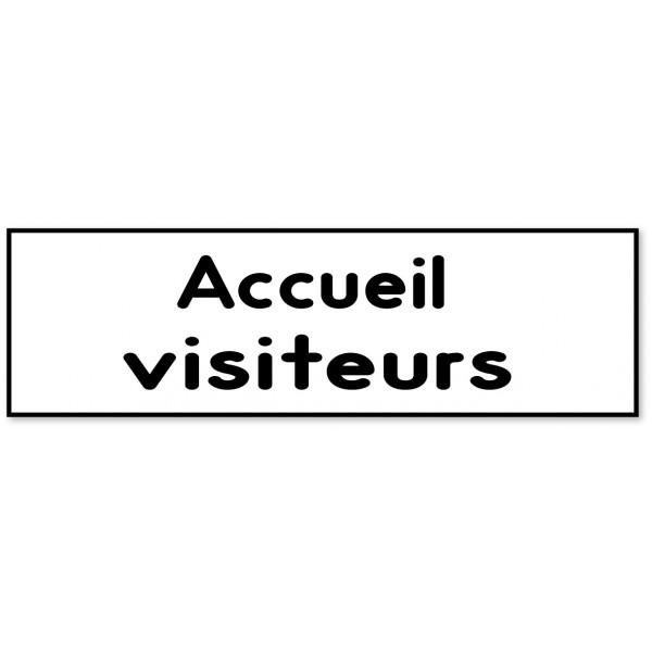 Panneau et autocollant accueil Visiteurs - 9 color...