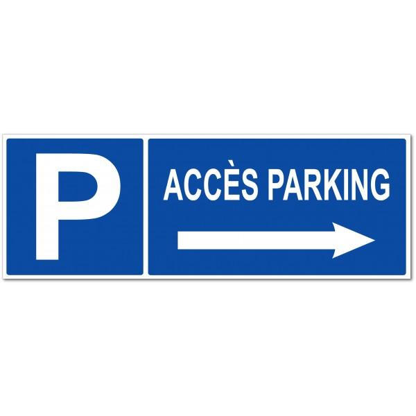Accès parking  flèche à droite