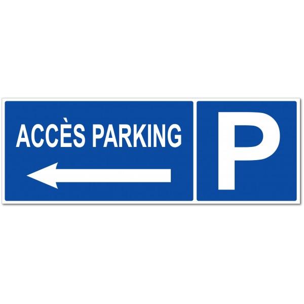 Accès parking  flèche à gauche