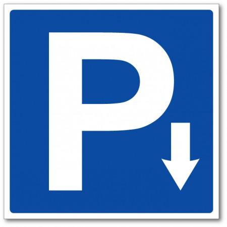 Flèche directionnelle emplacement parking panneau et autocollant