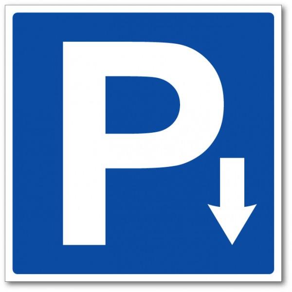 Flèche directionnelle emplacement parking panneau...