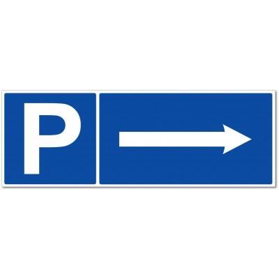Panneau et autocollant de signalisation parking fl...