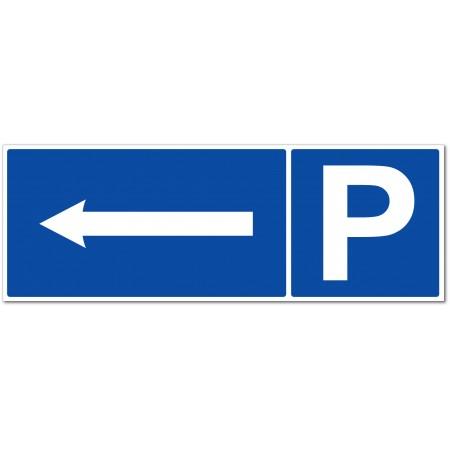 Panneau ou autocollant parking direction à gauche