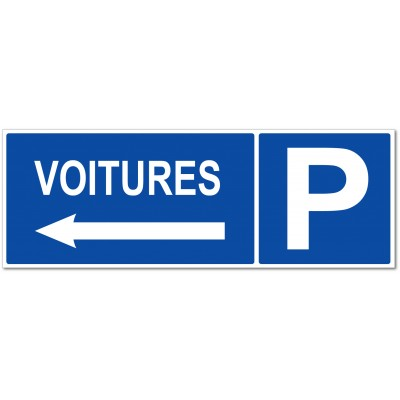 Parking voitures direction gauche