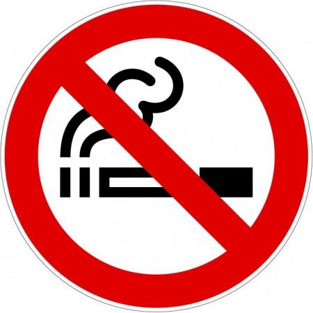 Logo interdit de fumer en autocollant ou plaque type 1