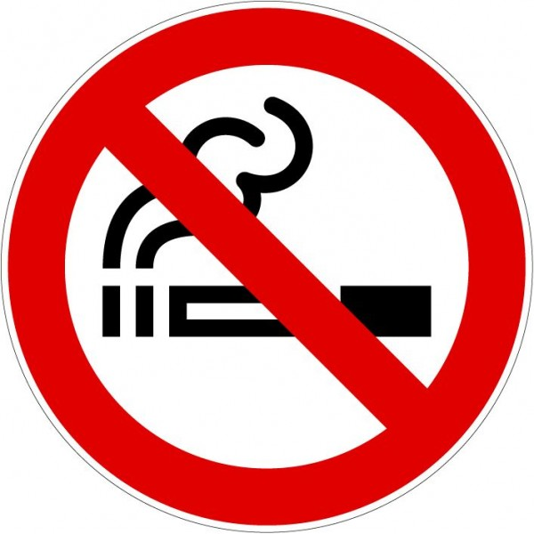 Logo interdit de fumer en autocollant ou plaque ty...