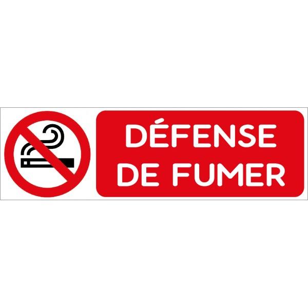 Défense de fumer, autocollant et plaque pour port...