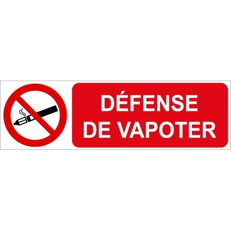 Plaque et adhésif défense de vapoter
