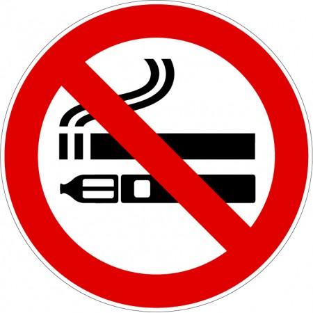 Plaque et autocollant pictogramme interdit de fumer et de vapoter