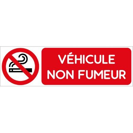Autocollant pour voiture interdit de fumer, véhicule non fumeur