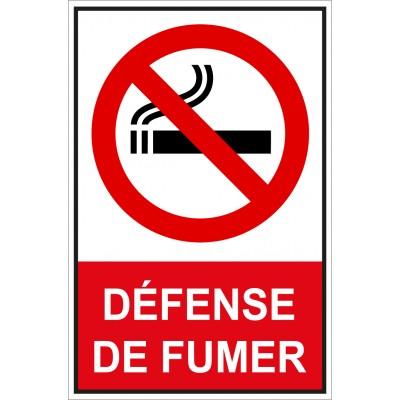 Défense de fumer, autocollant et panneau