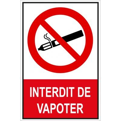Panneau et autocollant de signalisation interdit d...