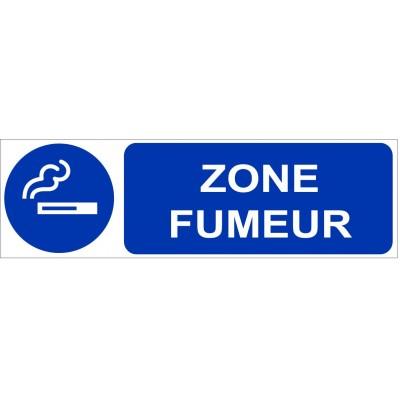 Plaque et autocollant pour indiquer une zone fumeu...