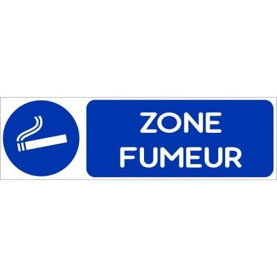 Autocollant et plaque autorisation de fumer dans c...