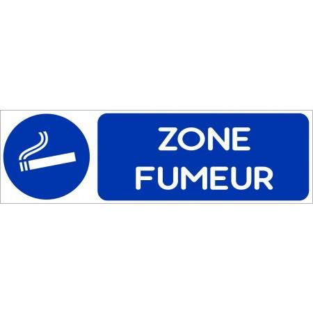 Autocollant et plaque autorisation de fumer dans cette zone