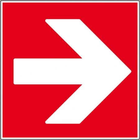 Plaque ou autocollant flèche droit, sécurité incendie