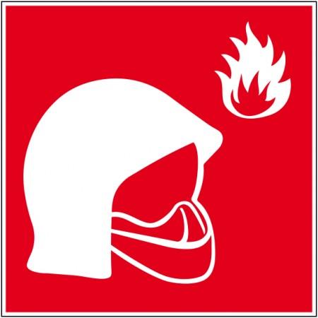 Equipement de sécurité incendie, pictogramme sur adhésif ou plaque