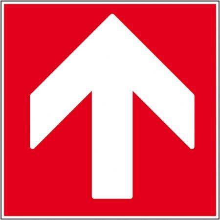 Affichage pictogramme incendie pour sécurité des entreprise, flèche haut autocollant ou panneau