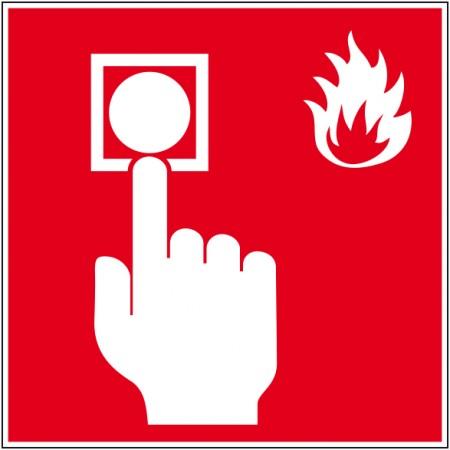 Autocollant et panneau alarme incendie, affichage de sécurité en entreprise