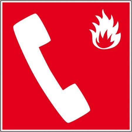 Téléphone incendie, signalétique de secours sur autocollant ou support rigide