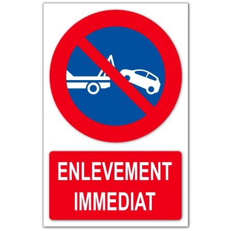 Stationnement interdit enlèvement immédiat