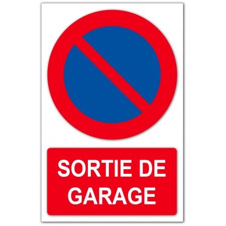 Stationnement interdit sortie de garage