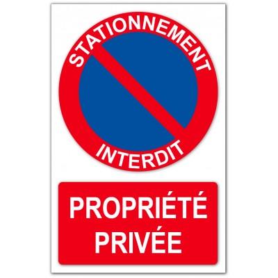 Stationnement interdit propriété privée