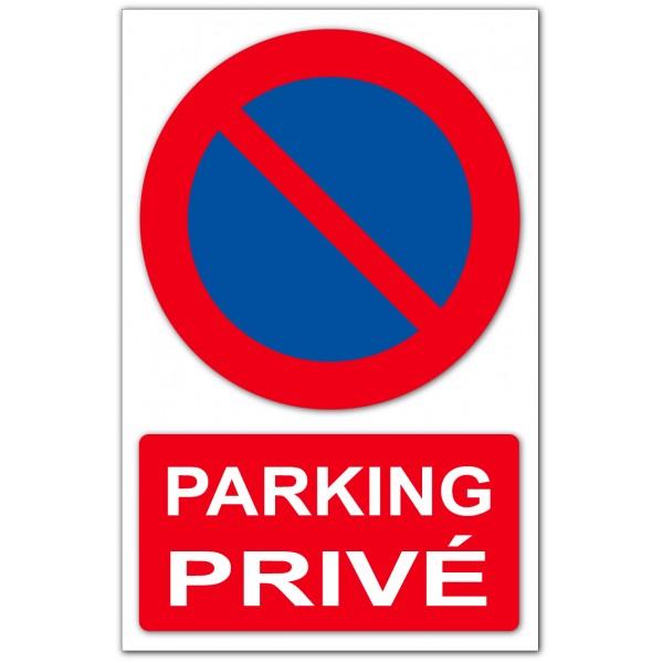 Stationnement interdit parking privé