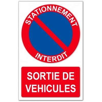 Stationnement interdit sortie de véhicules
