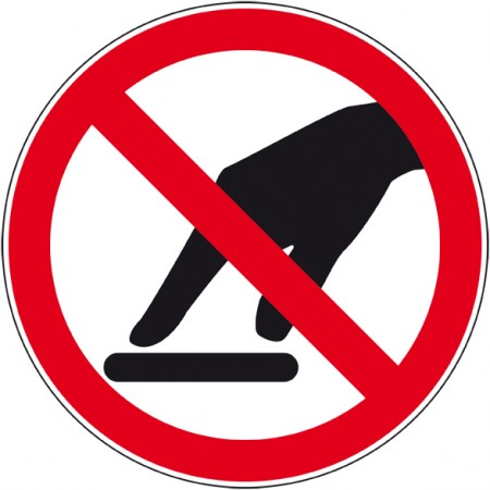 Panneau et autocollant pictogramme interdiction de toucher