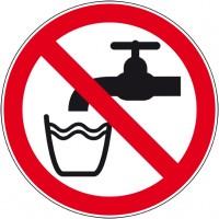 Plaque PVC et autocollant interdiction de boire