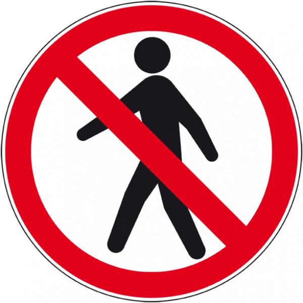 Panneau ou autocollant piéton interdit