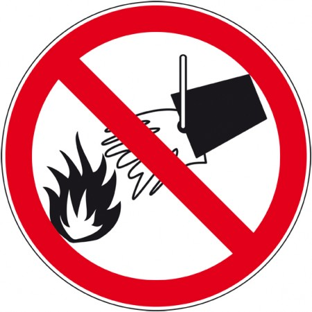 Panneau et autocollant interdit d'éteindre avec de l'eau