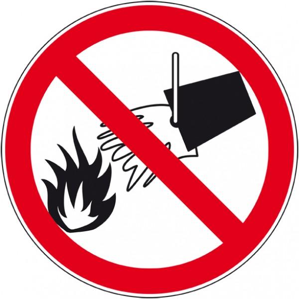Panneau et autocollant interdit d'éteindre avec d...