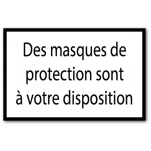 Masques de protection à disposition