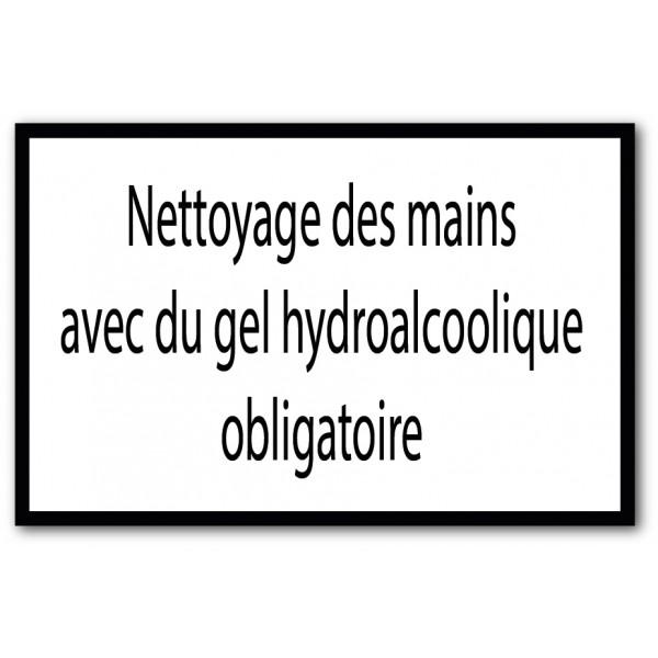 Utilisation de gel hydroalcoolique obligatoire