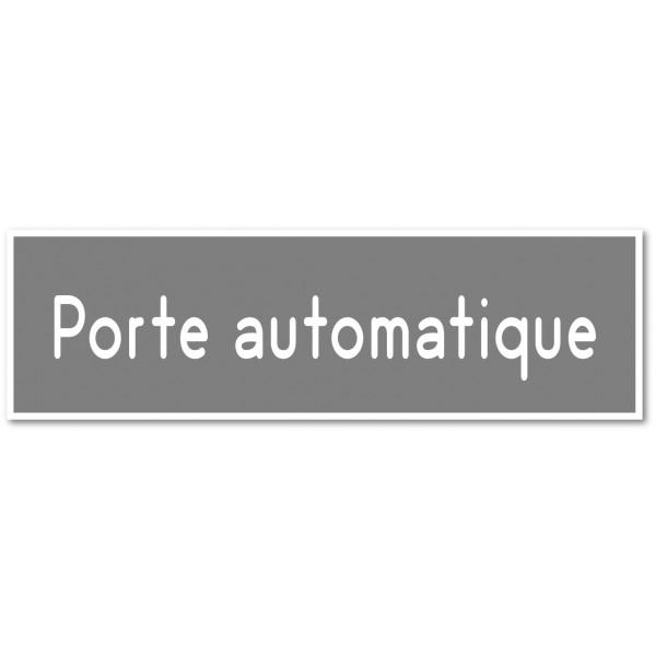 Porte automatique autocollant ou plaque - 9 coloris au choix