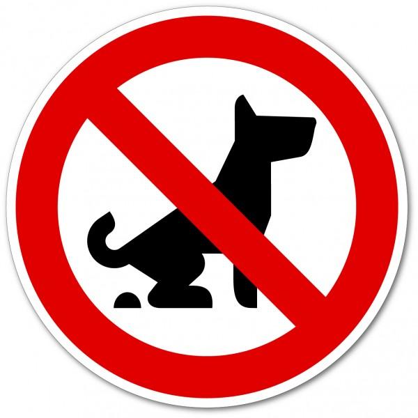 Déjections canines interdites