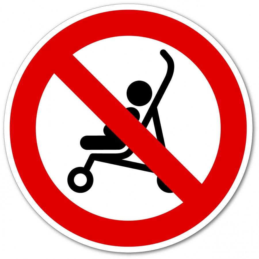Plaque interdit aux poussettes - Adhésécure