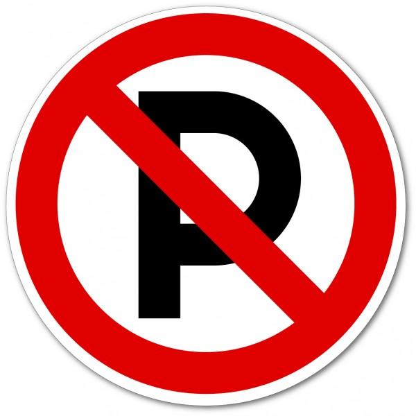 Parking interdit autocollant et panneau