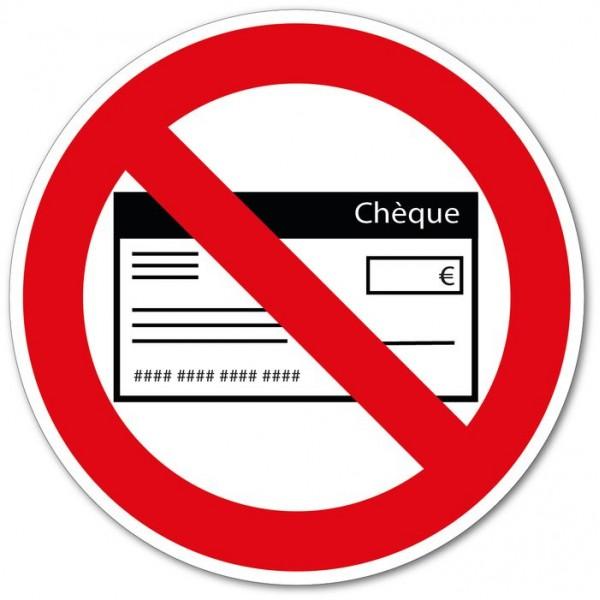 Règlement par chèque non accepté