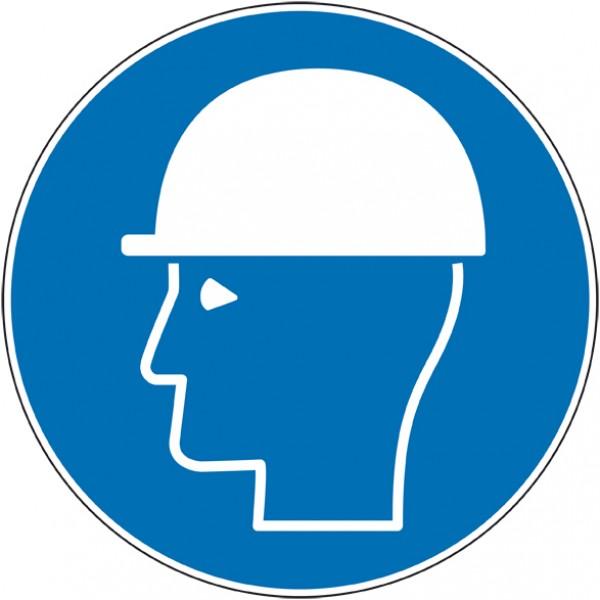 Autocollant ou panneau port de casque obligatoire