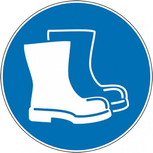 Autocollant panneau port de chaussures de sécurit...