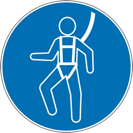 Autocollant et panneau port de harnais de sécurité obligatoire