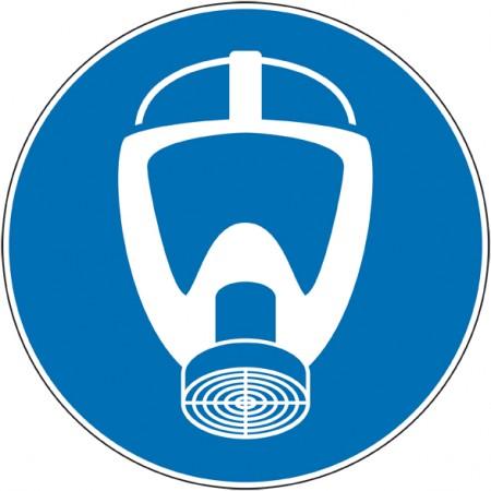 Adhésif panneau obligation port masque protection voies respiratoires