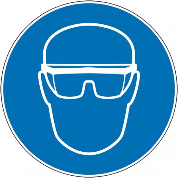 Autocollant ou panneau port de lunettes de sécuri...
