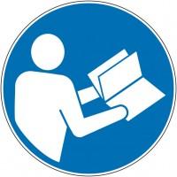 Panneau et autocollant obligation de consulter la ...