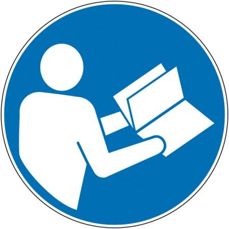 Panneau et autocollant obligation de consulter la notice