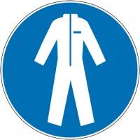 Autocollant et panneaux port de combinaison obliga...